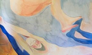 women's lounge mural