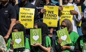 The East London Mosque holds a remembrance service For victims Of Manchester Arena Bombing.