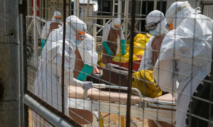 The Ebola treatment centre at Kerry Town in Sierra Leone in 2014.