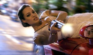 Flat out … Angelina Jolie in Wanted.