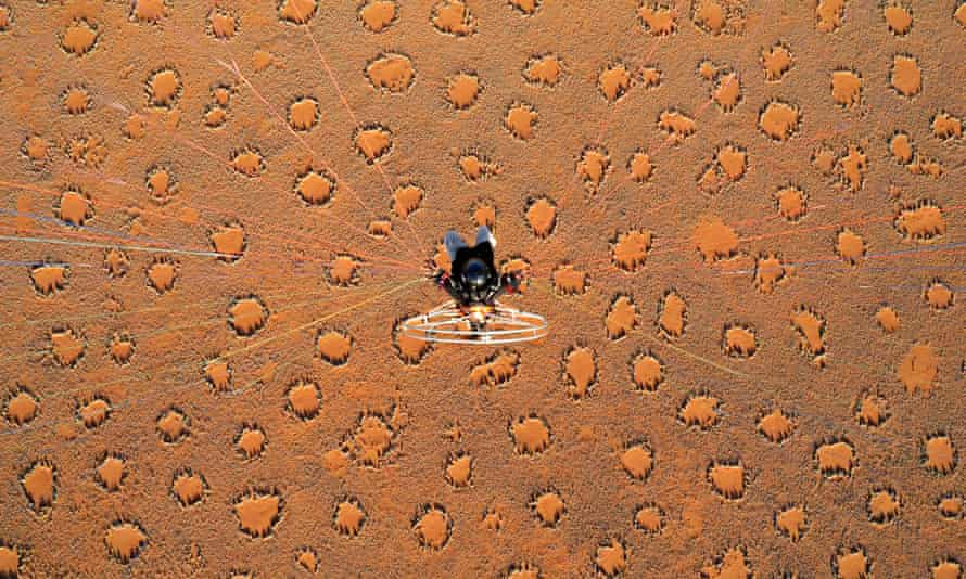 """The """"fairy circles"""" of the Namib desert as seen from above."""