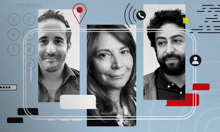 From left: Gregg Carlstrom, Roula Khalaf and Omar Radi.