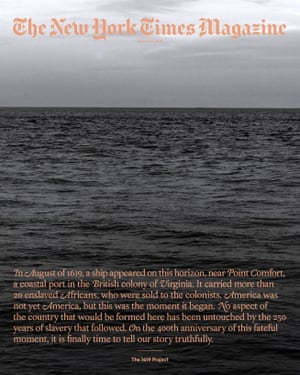 This image released by Random House shows the cover of a special issue of the 1619 Project from The New York Times Magazine.