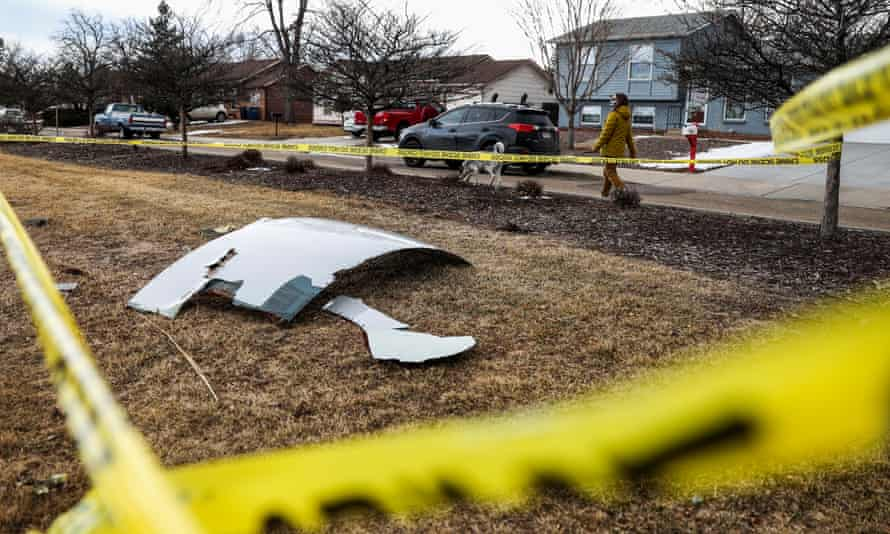 Airplane debris fell on to residential areas of Denver this weekend, after a Boeing 777 engine exploded after takeoff from Denver, prompting the flight to return to airport, where it landed safely.