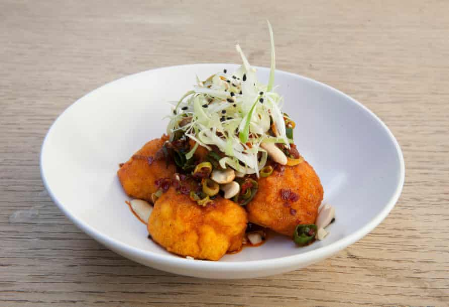 Cauliflower with crispy chilli oil at The Alma, Crystal Palace, London.