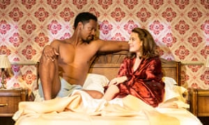 Tory Kittles as Paul Robeson with Emma Paetz as Uta Hagen in 8 Hotels at Chichester.