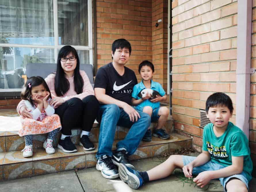 Tony Bui and family in Footscray