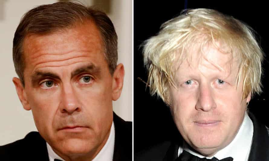 Mark Carney and Boris Johnson