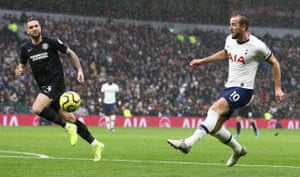Harry Kane converts but his goal is later disallowed.