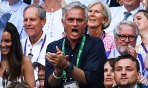 José Mourinho on Centre Court during Wimbledon earlier this month.