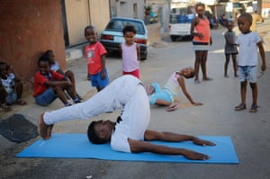 Township resident and yoga teacher, Sindiso Moyo,