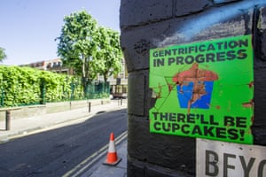 A sign in Cheshire Street, east London.