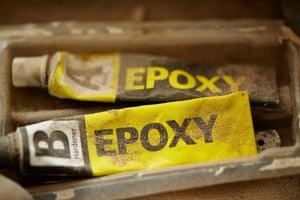 Tubes of Epoxy hardener