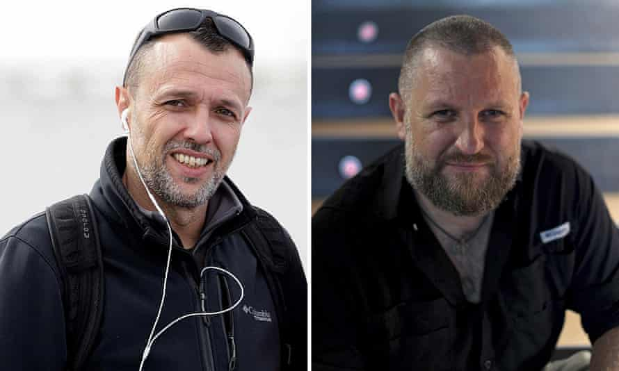 Roberto Fraile, left, and David Beriáin.