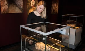 The 'Whitechapel monster' fatberg on display at the Museum of London.