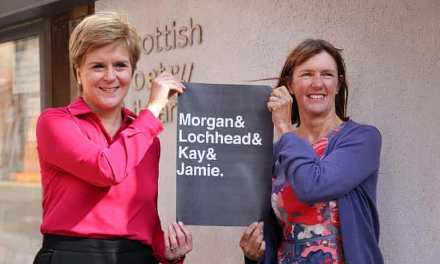First minister Nicola Sturgeon announcing Kathleen Jamie (right) as Scotland's new makar last week.