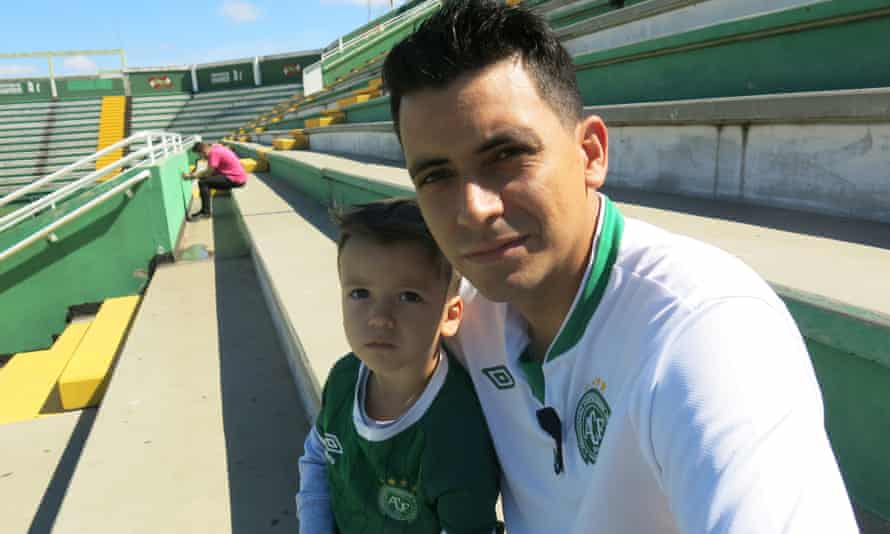 Danimar Silva and his son, Davi Luis. 'It was a serious, competent job by the bosses and the players,' Silva said.