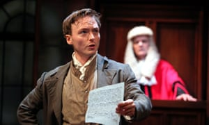 Royal risks … Joseph Prowen as William Hone in Trial By Laughter.