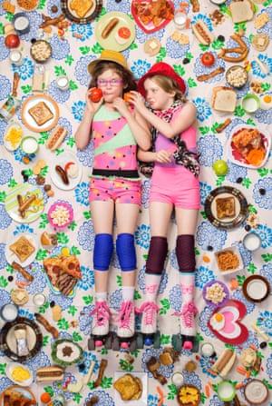 Alexandra Lewis, 9, and Jessica Lewis, 8, Altadena, California, 2016