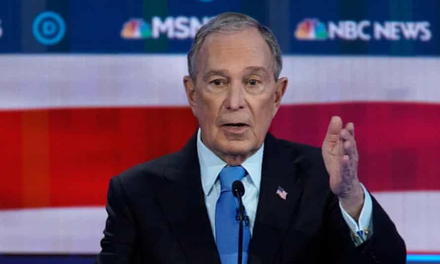 Bloomberg at the debate on Wednesday in Las Vegas.