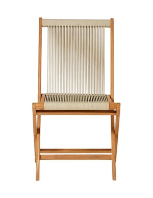 Folding rope chair, £195, by the Conran Shop