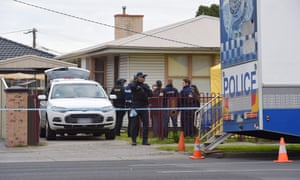 A house in Braybrook, Melbourne, on Saturday where police earlier conducted a raid.