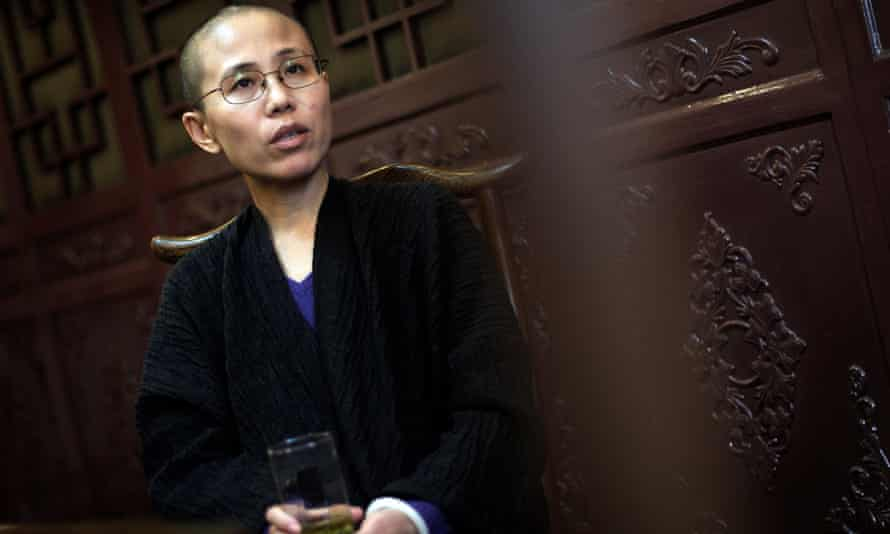 Liu Xia, wife of Chinese dissident Liu Xiaobo, speaks during an interview in Beijing, China, in 2010.