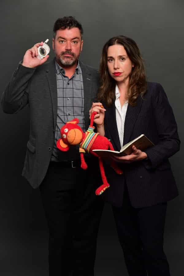 Audrey (Alison Bell) and Jeremy (Duncan Fellows) in a promo shot for the second season of ABC's The Letdown