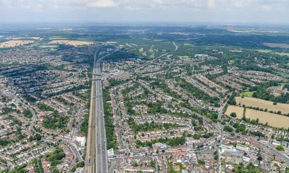 An aerial view of Edgware in North London<br>An aerial view of Edgware in North London, 25 July 2014