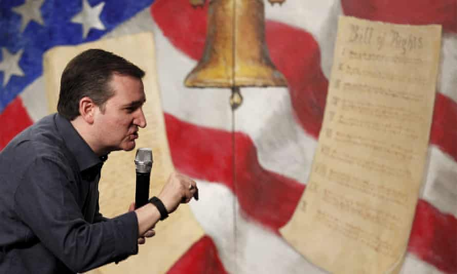 Texas senator Ted Cruz: 'Declaration + Revolutionary War + Constitution = USA'.