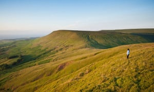 View from Twmpa towards Hay Bluff
