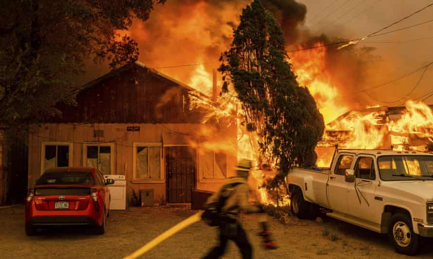 Doyle, a small town in California, was ravaged last week by wildfire for the second time in less than a year.