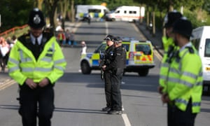 There was a strong police presence at the One Love Manchester gig the previous weekend.