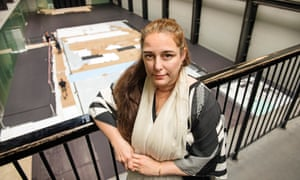 Big reveal … Tania Bruguera oversees the installation of her Turbine Hall commission at Tate Modern.