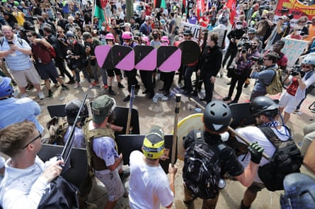 Anti-fascists face off against neo-Nazis at the Unite the Right rally in Charlottesville.