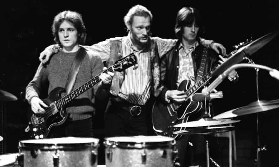 Jack Bruce, Ginger Baker and Eric Clapton of Cream during their farewell performance at the Royal Albert Hall, London, 1968.