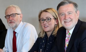 Barry Gardiner with Jeremy Corbyn and would-be successor Rebecca Long Bailey last September.