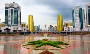 The centre of Astana, inaugurated as capital of Kazakhstan 20 years ago.