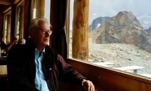 Hans Oerlemans in the Swiss Alps.