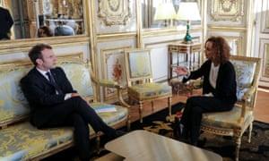 Slimani with President Macron.