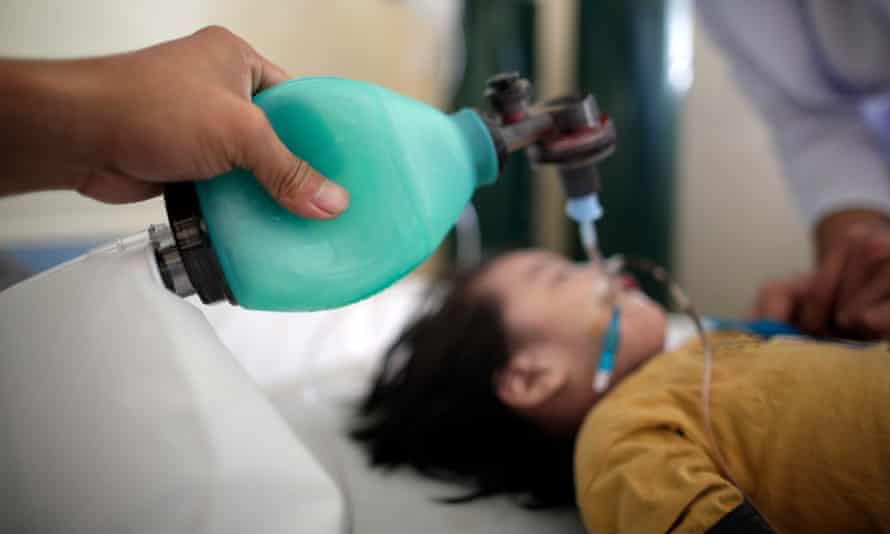 The Philippines health department declared a measles outbreak in Metro Manila and Central Luzon. Most of those affected are children, like this one being treated at a hospital in the capital of Manila.