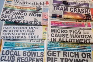 """The """"Weatherfield Gazette"""" a thriving local title."""