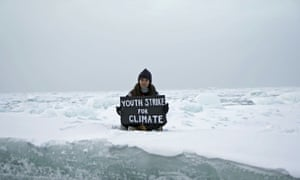 The environmental activist Mya-Rose Craig joins the protests from the Arctic Ocean
