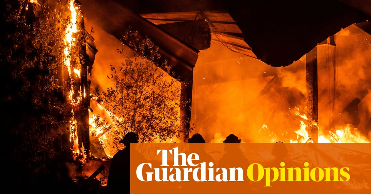 Ordinary life has vanished in fire-ravaged California