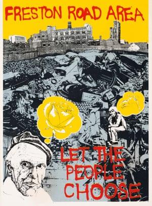Freston Road poster, 1977, David Jones