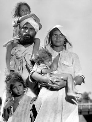 A Sikh family on the road to Punjab in 1947.