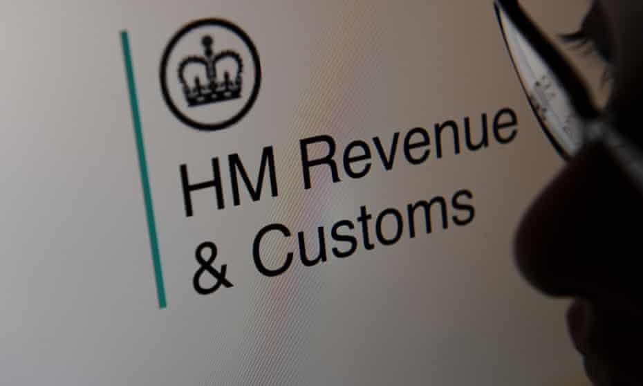A person looking at the HMRC website