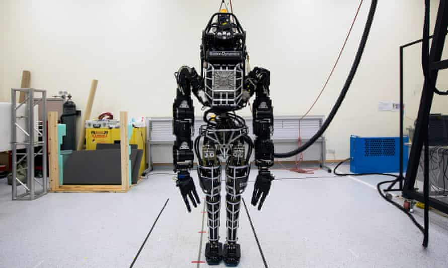 The bipedal humanoid robot Atlas is being developed by Boston Dynamics, which is ownedThe bipedal humanoid robot Atlas being developed by Boston Dynamics, which is owned by Alphabet by Alphabet