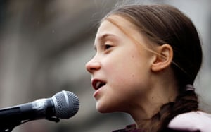 Greta Thunberg speaks during a demonstration of the in Lausanne, Switzerland on 17 January.