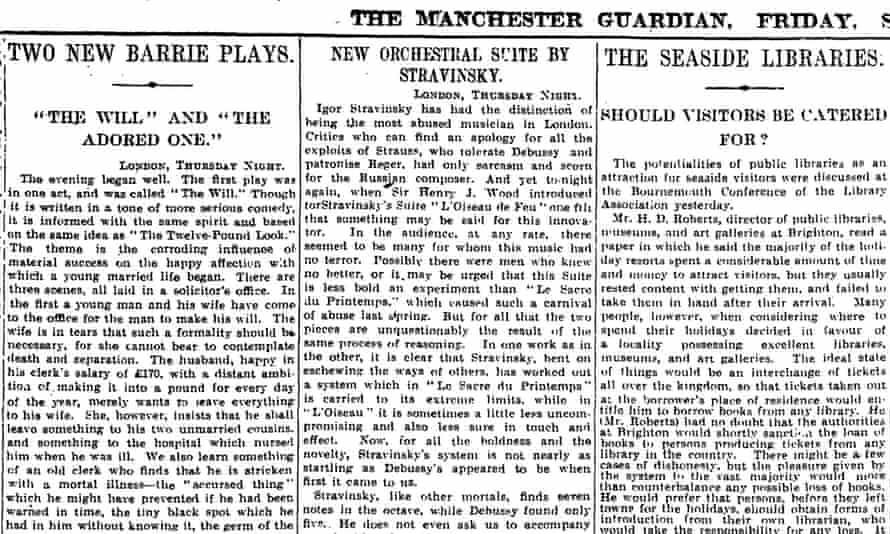 Manchester Guardian, 5 September 1913.